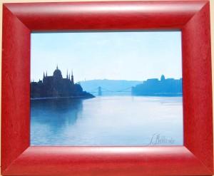 Reggel a Margit hídon